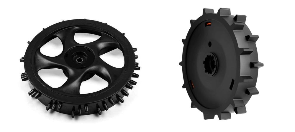 Robot mower wheels