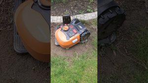 Worx Landroid robotic mower in action @Jonathan Neeld