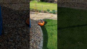 Rasenkantenschnitt mit dem Worx Landroid M700